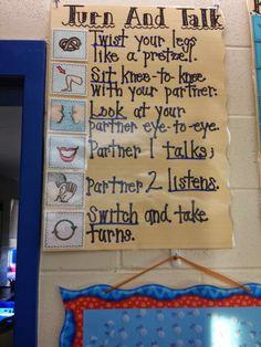 Strategies That Work: Turn And Talk   The Kindergarten Smorgasboard