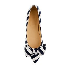 OK, I love these too.  J Crew viv stripe flats.  Flats are my friend.