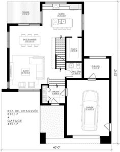 Modern House Plans, Small House Plans, Plan Design, Architect Design, Planer, Home Remodeling, My House, Sweet Home, Floor Plans