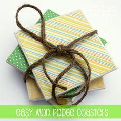 Easy Mod Podge Coasters Set