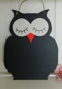 Owl chalk board Childrens Bedroom, Kids Bedroom, Owl Crafts, Owl Art, Chalk Board, Preschool Ideas, Cool Kids, Crafting, Decor Ideas