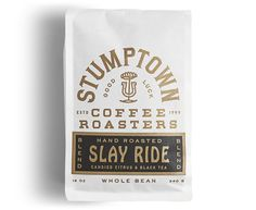 New Packaging for Stumptown Coffee Roasters by LAND