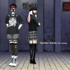 Garter Socks at Imadako • Sims 4 Updates