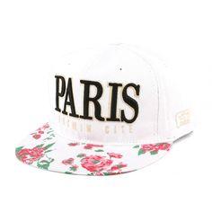 Snapback PARIS Blanche Rose Rouge #mode #nouveaute #Casquette sur…