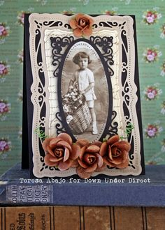 A Vintage Card using Radiant Rectangles dies