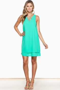 ShopSosie Style : Now And Then Dress in Green