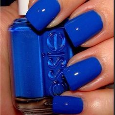 Electric Blue! (Why can't anyone trim their cuticles? It makes me crazy! I can't be the only one, can I?)