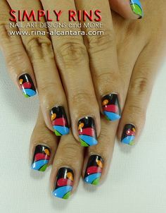 abstract design nails Nail Art Inspiration | Nail designer nails