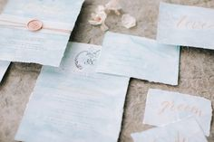 We used natural tones of whites, creams and browns with hints of coral throughout the design. Captured by White Cat Studio and Styled by Petal&Twine. Wedding Calligraphy, Wedding Stationery, Wedding Invitations, Wedding Designs, Wedding Styles, Irish Beach, Beach Elopement, Romantic Beach, Irish Wedding