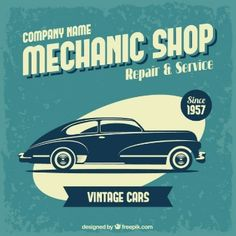 Poster oficina mecânica