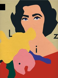 Anna-kovecses-liz-taylor-illustration-portrait-graphisme-rocket-lulu