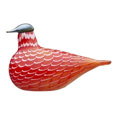 iittala Toikka Cecil Red Grouse Exclusively handcrafted and exceptionally handsome, Cecil makes a one-of-a-kind gift for the holidays or a valuable addition to your own collection of mouth-blown glass birds. Only 250 of this special . Large Rabbits, Grouse, New York Art, Glass Birds, Glass Design, Decorative Objects, Finland, Scandinavian, Glass