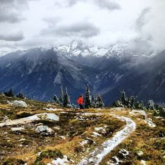 Arc'teryx athlete Anne-Marie Madden out for a first-snow trail run in Glacier National Park