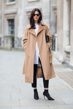 Inspiration for my mother's old camel hair coat.