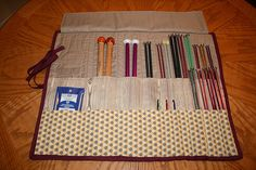 Absolutely need to make this! My knitting needle collection has grown out of control. Unfortunately my sewing skills aren't what they could be...but I'm sure I can give it a shot. :)