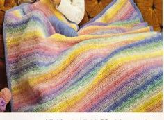 This is a great baby blanket pattern for beginner crocheters who are looking to try a simple pattern that changes colors. Crochet this baby ...