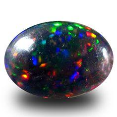 3.14 ct AAA Splendid Oval Cabochon Shape (13 x 9 mm) Black Opal Loose Gemstone #SincereGems