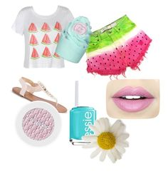 """""""PINK!"""" by fashiongirl1025 on Polyvore featuring Ally Fashion, Celebrity NYC, Fiebiger and Essie"""