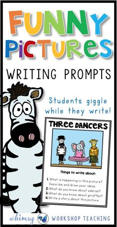 Add some giggles to your writing centers! These funny picture writing prompts are a huge hit in my classroom, and a fun ways to keep add writing inspiration to my first and second grade writing lessons!