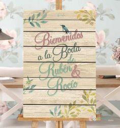 cartel pjaros vintages bienvenidos a nuestra boda