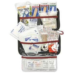 Travel at ease with the assurance you have the kit to help with the Lifeline AAA Road Trip Kit. This is an extensively stocked first aid kit in a sturdy hard-shell foam case which stows conveniently in your truck. There is one survival tool that is an eme Survival Prepping, Emergency Preparedness, Survival Skills, Car Emergency Kits, Camping Survival, Survival Gear, Camper Awnings, Tutorials