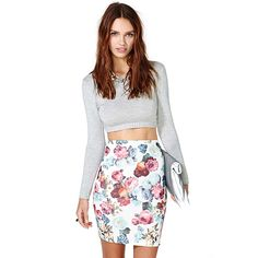Women Summer Skirt Casual Floral Print Bodycon Mini Skirts Brief Style Female Sexy Slim Pencil High Waist Skirt #Affiliate