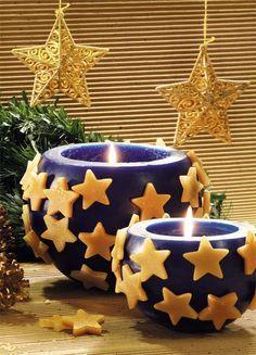 Vela cachepô de Natal - DIY, Christmas, Craft