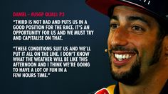 'These conditions suit us, we'll put it all on the line.'  Daniel's #USGP quali reaction http://win.gs/1Mde3ad