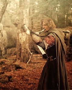 The Horn of Gondor is how Boromir summons for help when there are too many Uruk-hai.