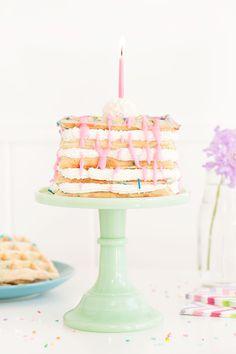 Confetti Waffle Birthday Cake   Sprinkles for Breakfast