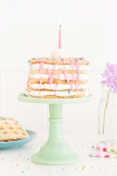 Confetti Waffle Birthday Cake | Sprinkles for Breakfast