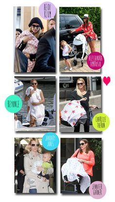 Love this! A beautiful graphic of celebrity mums using aden + anais swaddles.