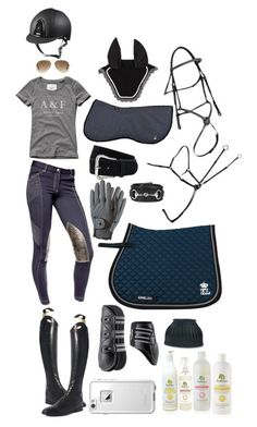 """a navy and grey sorta day"" by a-circuit-equestrian on Polyvore featuring Abercrombie & Fitch, Parlanti, Roeckl, Ray-Ban, LifeProof, women's clothing, women, female, woman and misses #HorseClothes"