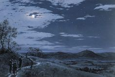 Last Sight of Hobbiton by Ted Nasmith // So his drawings don't always match up with my mental images, but they have such a strong sense of PLACE that, when they DO match up, or when he draws something I never even pictured, there's a strong, almost soul-wrenching sense of... well, home-sickness in a way. A longing for a place we've never been. A reaction Tolkien would be proud of, I think. (-SG)