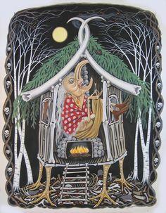 Baba Yaga, by Roxanna Bikadoroff 2007 Ink, watercolour and acrylic on paper