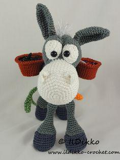 Amigurumi Crochet Pattern Dusty the Donkey di IlDikko su Etsy