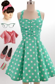 Brand new in store at Le Bomb Shop! Find it here: http://www.ebay.com/itm/50s-Style-MINT-White-POLKA-DOTS-Rouched-Bodice-Full-Skirt-PINUP-SUN-DRESS-/121060907928?pt=US_CSA_WC_Dresses==item61d113f4b9