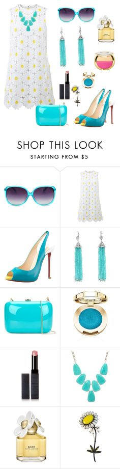 """Daisy"" by emmyt94 ❤ liked on Polyvore featuring Dolce&Gabbana, Christian Louboutin, Cathy Waterman, Rocio, Surratt, Kendra Scott, Marc Jacobs, Weiss and Sephora Collection"