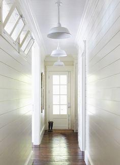 Ideas Farmhouse Foyer Lighting Transom Windows For 2019 Entrance Foyer, Entry Hallway, White Hallway, Upstairs Hallway, Hallway Ideas, White Walls, Cottage Hallway, Bright Hallway, Hallway Walls