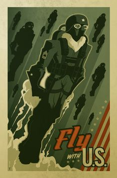 """fly with U.S."" poster by strongstuff.deviantart.com on @deviantART"