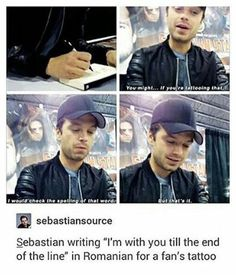 Whoever had him write it down- I want that too! It would be beautiful!