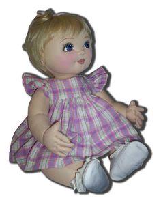 Elaine a 20 inch baby doll pattern. Jointed por MothersArmsDolls