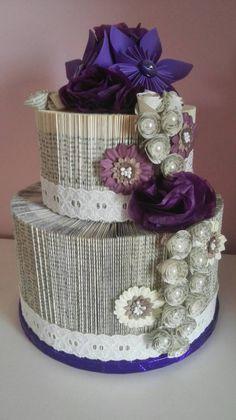 Folded Book Art: Wedding Cake