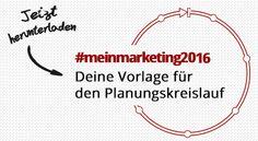 Planung und Organisation #Freebie #Vorlagen #Printable #Planungskreislauf #Marketing