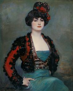Julia, painted in 1915 by Ramon Casas Carbó - she seems to be wearing the jacket from a suit of lights.