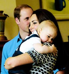 Kate, William and George. (adorable!)