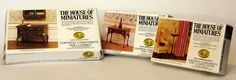 "Set Of 3 ""house Of Miniatures"" Dollhouse Furniture Making Kits"