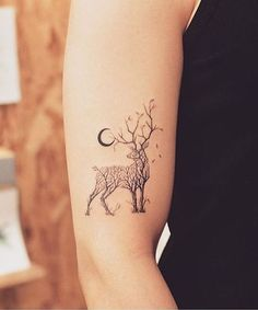 Charming Nature Loving Tattoo Design on Arm