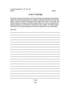 great expectations essay graphic organizers and students great expectations letter of apology writing assignment