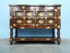 For Sale Sheesham Wood And Brass Fitted Console Cum Side Board More Information Please Visit